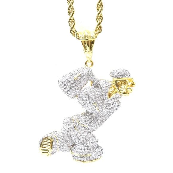 Accessories 14k Gold Diamond Custom Cartoon Charm Chain Poshmark